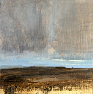 'Sussex Downs Sunset XXIX' 40 cm oil on canvas