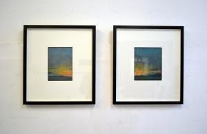 Brighton sunset X XI framed