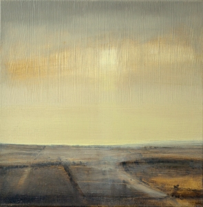 'Sussex Downs Sunrise III' - 40cms - oil on canvas